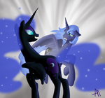 Luna and Nightmare Moon by Bananers97
