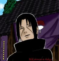 a smile on his face by Itachi-girl214