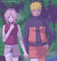Commish - NaruSaku by Ninanator