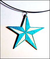 blue nautical star necklace by bleedsopretty