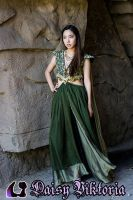 Green Princess Gown by DaisyViktoria