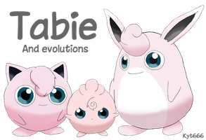 Tabie and evolutions by Kyt666