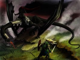 Eowyn Vesus the Witch King by squareko