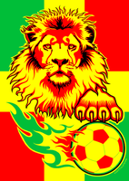 Finished Lion soccer poster by Rustyoldtown