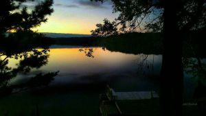 Wisconsin lake....evening  by gintautegitte69