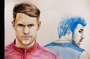 Aaron Ramsey and Cesc Fabregas by Gutter1333
