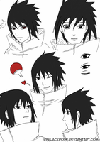 Sasuke sketch. by byBlackRose