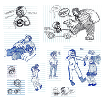 More WiR - pen sketches by Insideunder