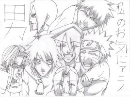 My Favorite Anime Guys by Uzumaki-Akane-sama