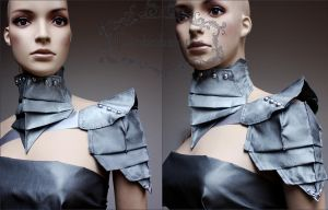 Set of armor and collar by Pinkabsinthe