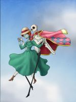 Jack's Moving Castle - Coloured II by WaterLily-Gems