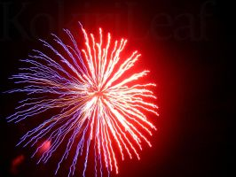 Red and Blue Firework by Liefesa