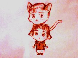 KittyKurt and PuppyBlaine by ForeverReid