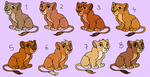 Lion Cub Adoptables - CLOSED by HydraCarina