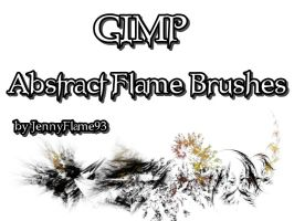 Abstract Flame Brushes by KirikoSoul