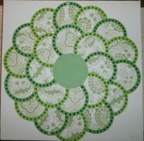Green Circle Flower by BlackUmbral