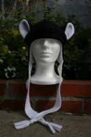 Black and White Fleece Hat by Jolly-Jess