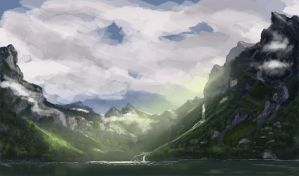 Speedpaint - Tranquility by dustycrosley