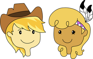 Braeburn and little Strongheart by Yuuchou