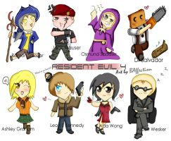 Resident Evil 4 Chibi by BlacknessAffection