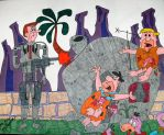 Jetson and the Flintstones by ToniTiger415