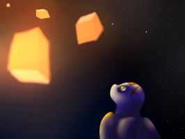 Floating Lights by DarkNyra