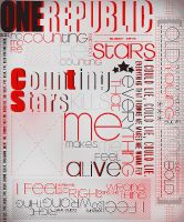 OneRepublic Counting Stars Typography by Laxe-BloodyDays