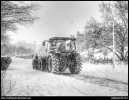 Snow plow... by Iulian-dA-gallery