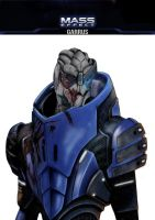 Mass Effect Garrus plain background by TFGlider