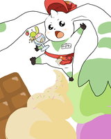 Terriermon Icecream Waiter by Kappei101