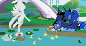 Canterlot Pond by EvilFrenzy