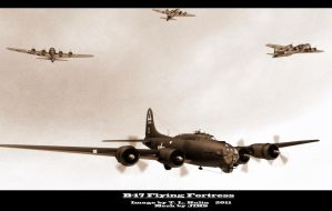 B-17 FLYING FORTRESS by archangel72367