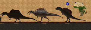 Spino through the ages by Paleop