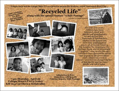 Recycled Life Flyer-Movie ppt. by guatemalan