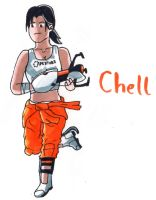 Chell by YouCanDrawIt