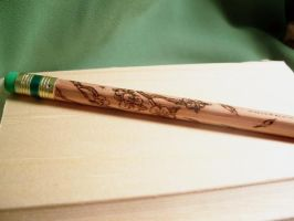 Hand Engraved Pencil by bassgeisha