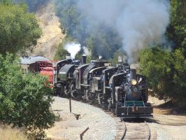The Quintuple Header 2 by BNSF