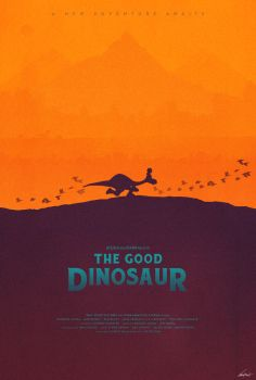 Arlo and Spot - The Good Dinosaur Poster by edwardjmoran