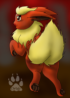 Flareon - Lets Fight by SlaveWolfy