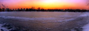 Frozen City Sunset by alyn3d