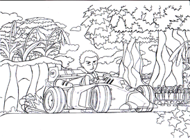 Mario Kart lines un-finished by wyvernsmasher