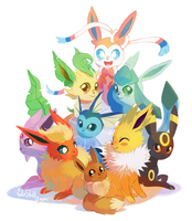 Eeveelutions 2.0 by CuteSkitty