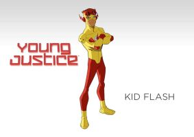 DC - Young Justice - Wallpaper - Kid Flash by Aerrow1324