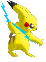 Pikachu brings the thnder. . .sort of by The-E-guess-corner