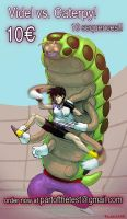 Videl vs. Caterpy comic project - teaser (UPDATED) by PolarBearNSFW