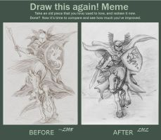 Before and after: a knight by Deorwyn