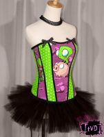 Invader Zim Pig GIR Corset by TheVintageDoctor