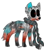 Wolf-dog adoptable .::Open::. by Bespattered94