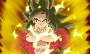 Super saiyan 4 Goku Heroes by RazorShadowZ