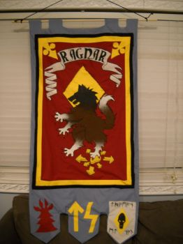 Ragnar: Space Wolves Banner by VGfaery
